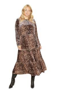 Anna Scholz Leopard Velvet Boho Dress Preview Images
