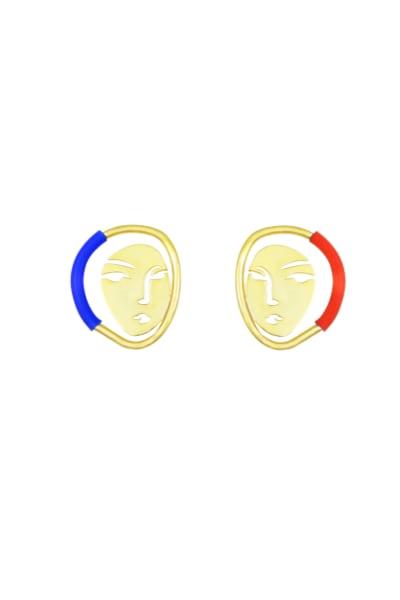 OOAK Portrait Earrings
