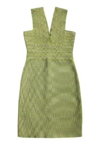 Hervé Léger Mini Green Bandage Dress Preview Images