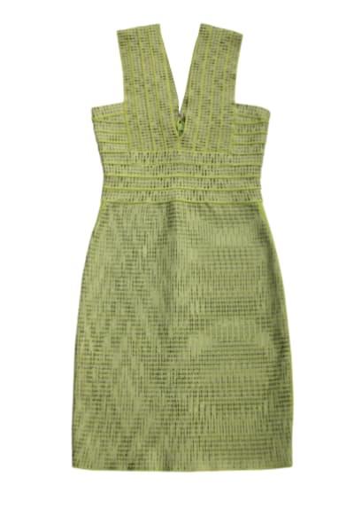 Hervé Léger Mini Green Bandage Dress