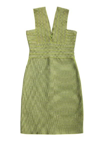 Herve Leger Mini Green Bandage Dress Preview Images
