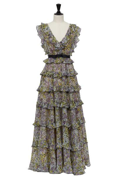 GIAMBATTISTA VALLI x H&M Tiered Maxi Dress Preview Images