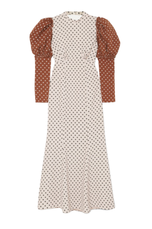 Rejina Pyo Sibylle draped two-tone Dress