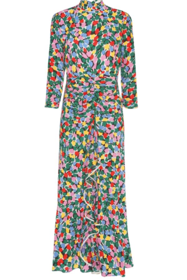 RIXO London Lucy Camouflage Micro Tulip Dress