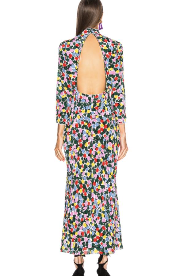 RIXO London Lucy Camouflage Micro Tulip Dress 3