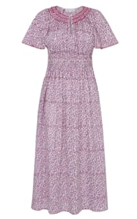 Pink City Prints Lavender Ditsy Tamsin Dress Preview Images