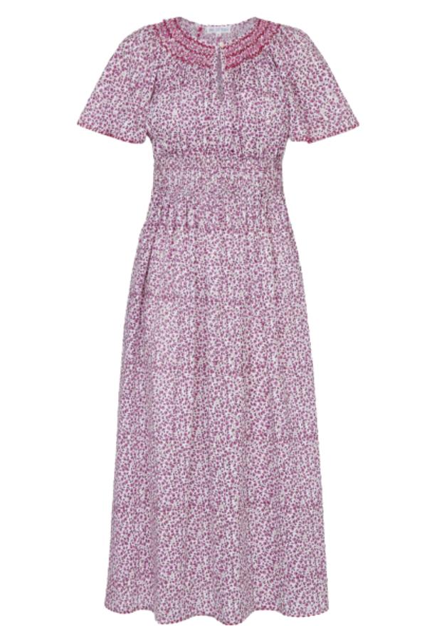 Pink City Prints Lavender Ditsy Tamsin Dress