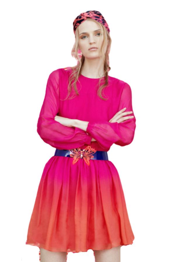 Matthew Williamson Ombre mini dress