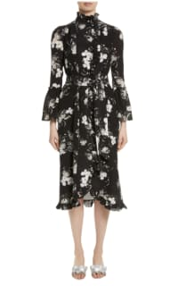 Erdem Ruffle midi dress belted 2 Preview Images
