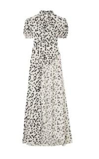 Self Portrait Open-back ruched leopard dress Preview Images