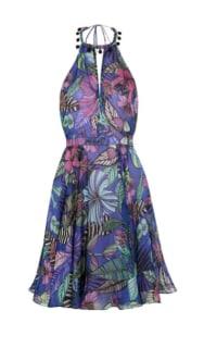 Matthew Williamson Kantuta Valley printed silk-chiffon halterneck mini dress Preview Images