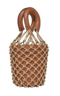Staud Moreau Leather and Macrame Bag 2 Preview Images