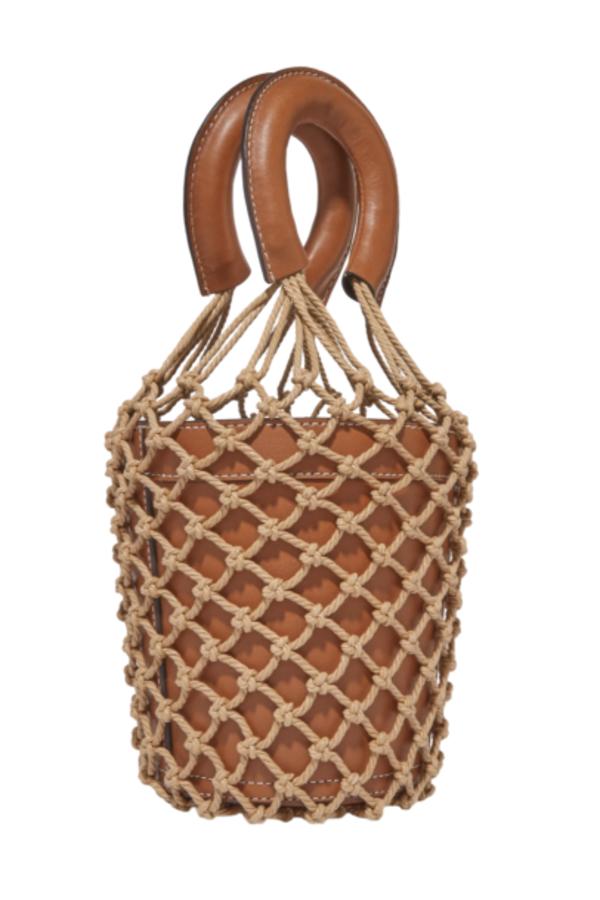 Staud Moreau Leather and Macrame Bag 2