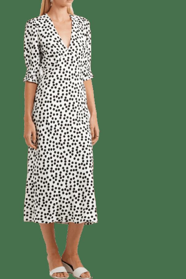 Image 1 of Rixo zadie polka-dot dress