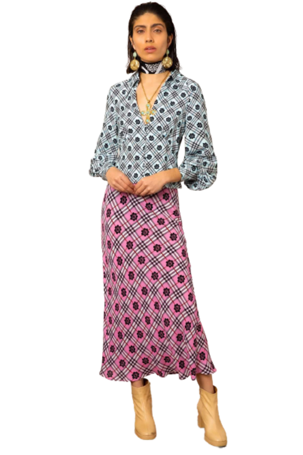 Image 3 of Rixo kelly checked skirt