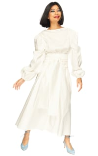 "LOUD BODIES ""Rosalind"" White Linen DRESS Preview Images"