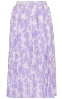 Whistles Batik Lily Print Pleated Skirt Preview Images