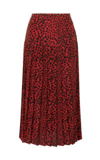 RIXO London Leopard pleat midi skirt Preview Images