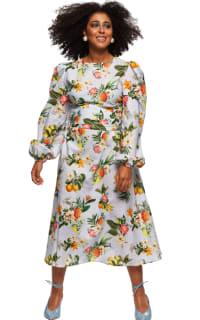 """LOUD BODIES """"Rosalind"""" floraL Linen Dress Preview Images"""