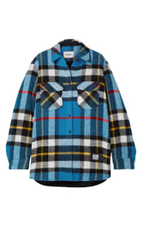 WE11 DONE Checked wool jacket Preview Images