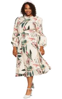 """LOUD BODIES """"Rosalind"""" Beige Linen Dress Preview Images"""