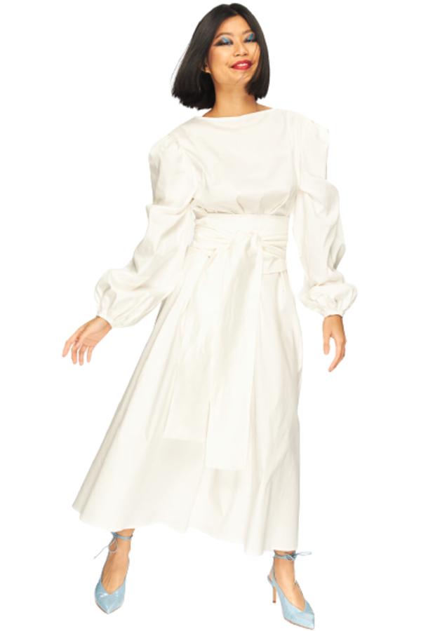 "LOUD BODIES ""Rosalind"" White Linen DRESS"