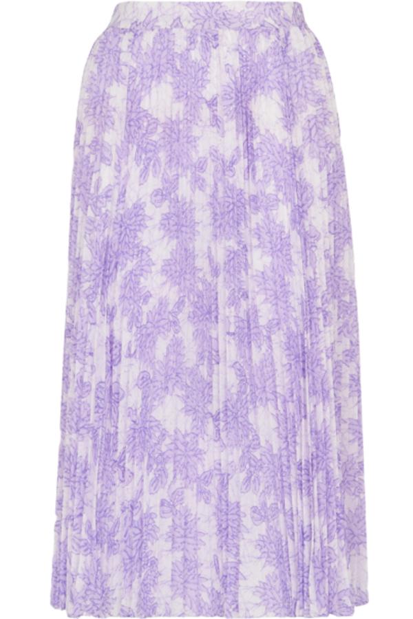 Whistles Batik Lily Print Pleated Skirt