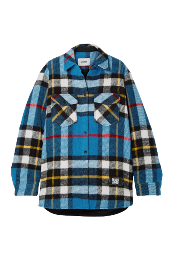 WE11 DONE Checked wool jacket