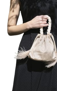 Isabelle Fox Greta silk and feather bag Preview Images