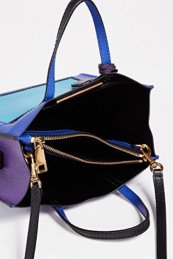Marc Jacobs The Mini Grind Leather Bag in Academy Blue 2