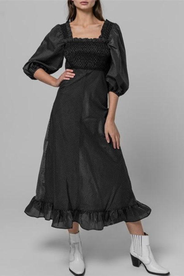 Image 5 of Ganni seersucker check dress