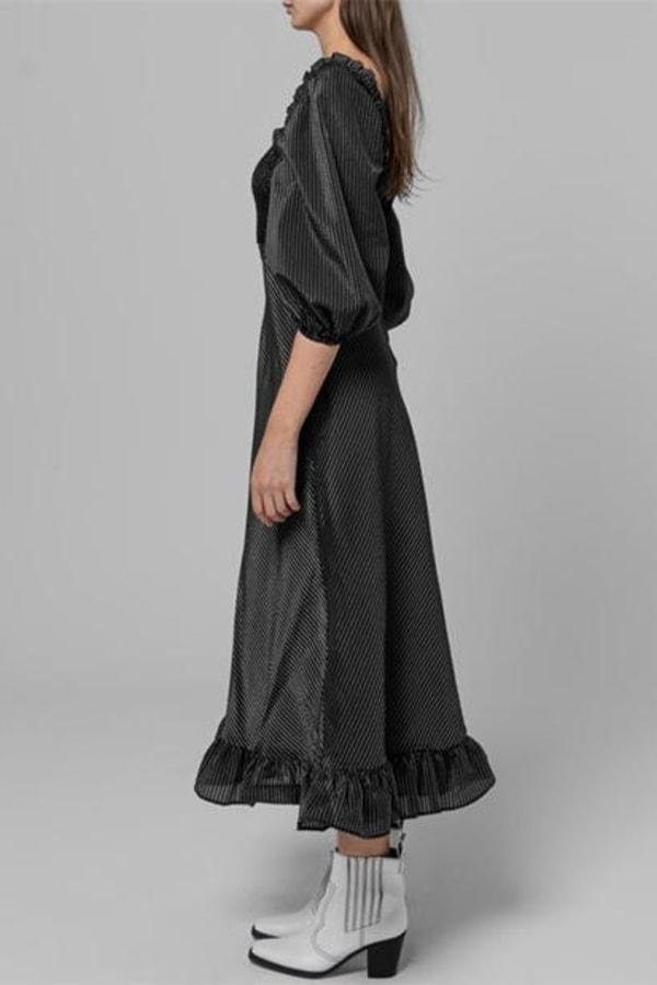 Image 4 of Ganni seersucker check dress