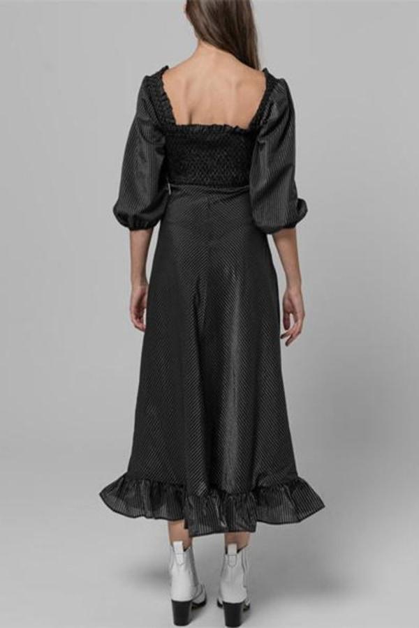 Image 3 of Ganni seersucker check dress