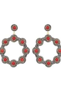 SORU Onyx Red Hoop Earring 3 Preview Images