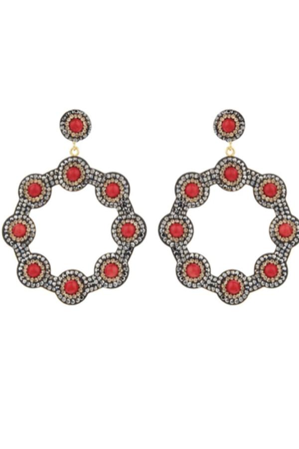 SORU Onyx Red Hoop Earring 3
