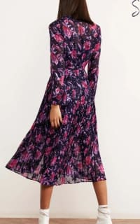 Kitri Gabriella Purple Pleated Shirt Dress 2 Preview Images