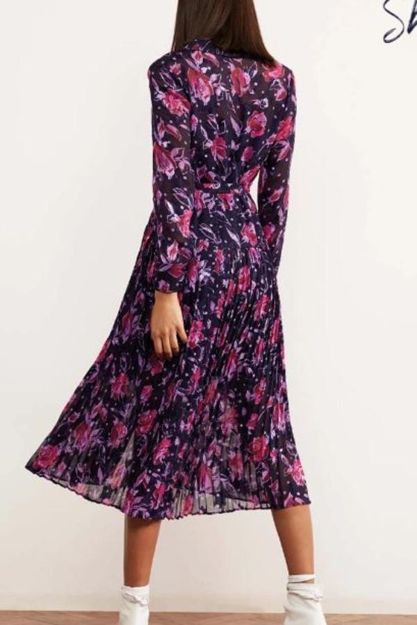 Kitri Gabriella Purple Pleated Shirt Dress 2