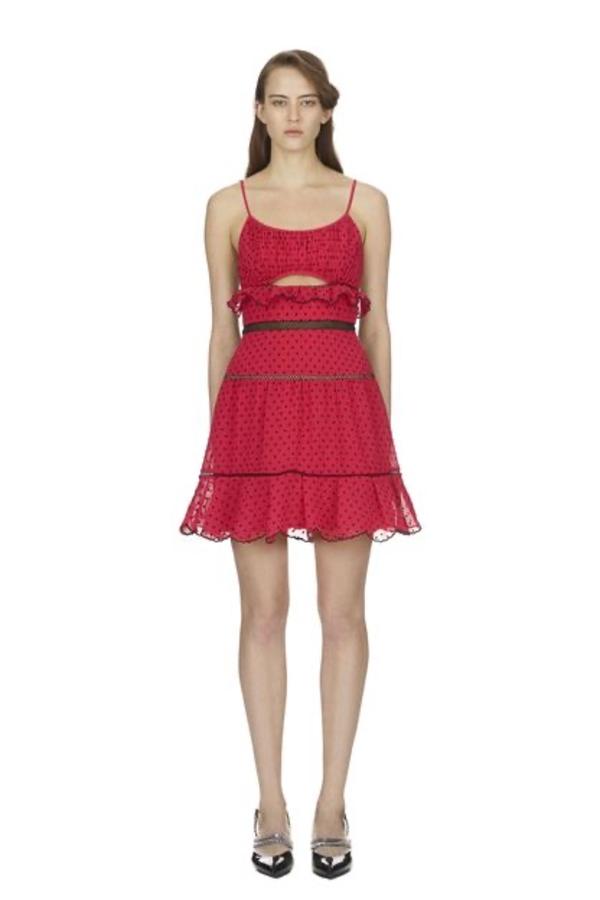 Self Portrait Fuschia Mini Dress