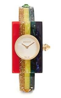 Gucci Striped Plexiglas watch Preview Images