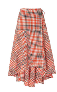 Ganni Checked Skirt Preview Images