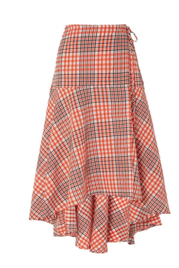 Ganni Checked Skirt