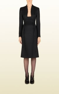 Gucci Houndstooth Open-Neck Dress 6 Preview Images