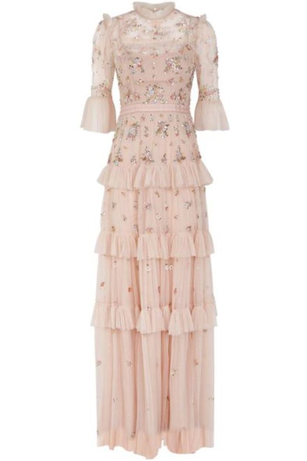 Needle & Thread Lustre Ruffle Gown