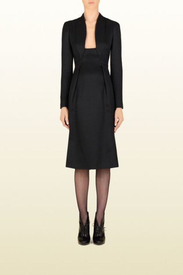 Gucci Houndstooth Open-Neck Dress 5 Preview Images