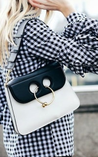 JW Anderson BLACK & WHITE PIERCE BAG 2 Preview Images