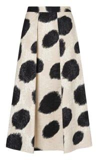 LK Bennett Monique Full Spotted Skirt Preview Images