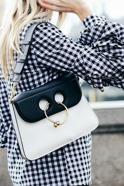 JW Anderson BLACK & WHITE PIERCE BAG 2