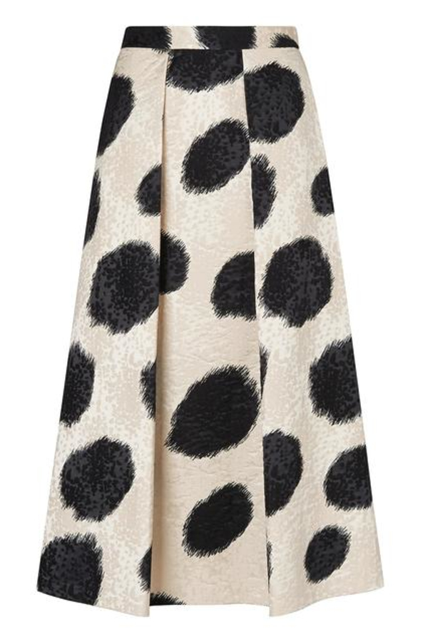 LK Bennett Monique Full Spotted Skirt