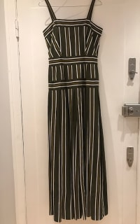 Martin Grant Pleated stripe long dress 3 Preview Images
