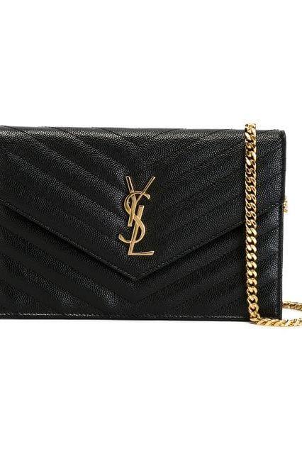 Saint Laurent Monogramme Quilted Leather Shoulder Bag 2 Preview Images